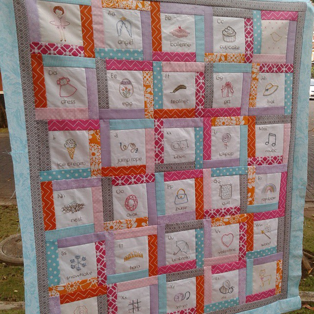 Woo hoo! Quilt top is finished :)