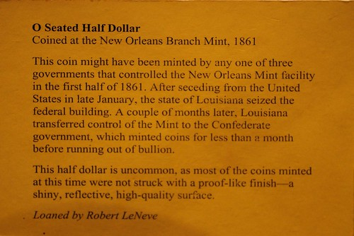 New Orleans Mint exhibit text
