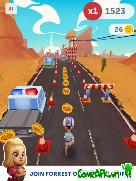 Run Forrest Run v1.2.2 hack full Coins & Cakes cho Android