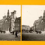 ภาพของ Hôtel de Ville ใกล้ ปารีส. city monument blackwhite stereoscopic paperprint positive albumen