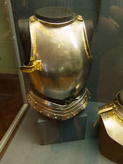 Breastplate with gold trim