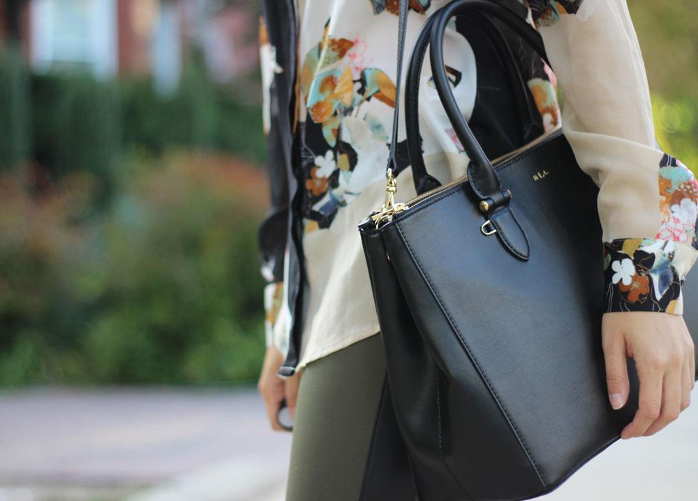 Ralph Lauren Newbury Double Zip dupe for Prada Saffiano Lux double zip satchel