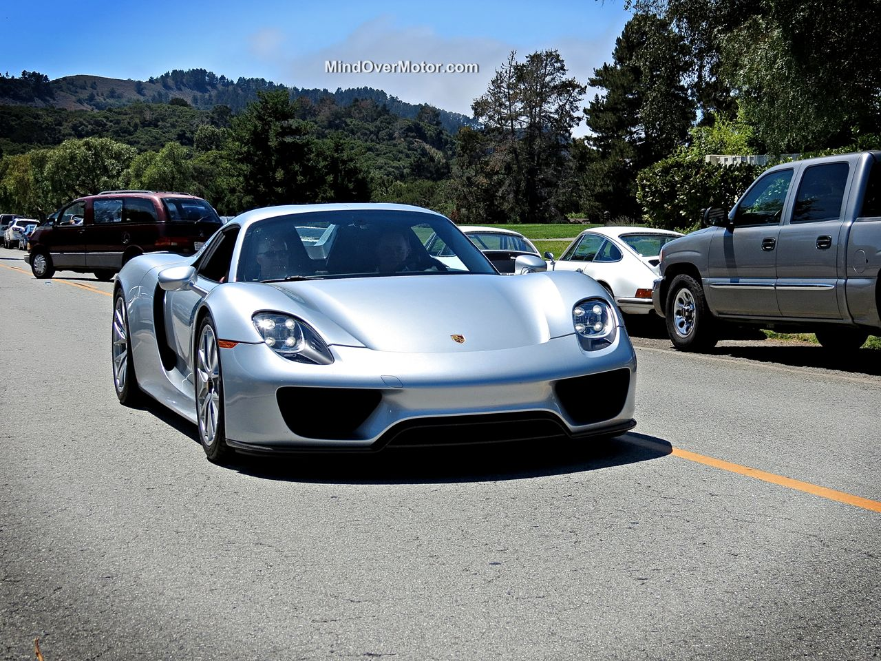 Porsche 918 Spyder at the Quail Lodge