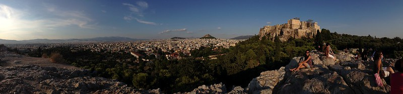 Areopagus looking to the Acropolis of Athens