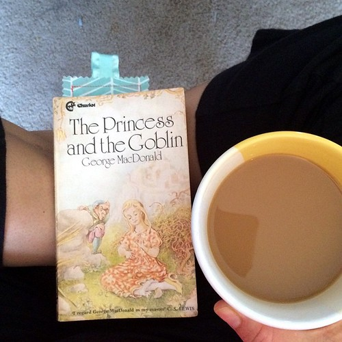 Coffee and the current read aloud. Latergram from yesterday. The story is getting good so I'm eager to get back to it later today!