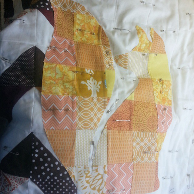 #patchwork #fox #applique
