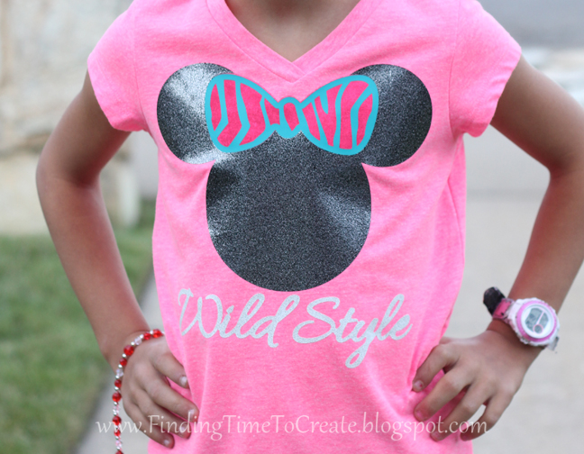 Heat Transfer Vinyl Minnie Wild Style