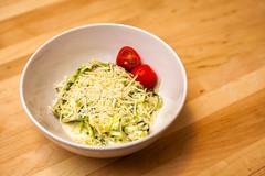0904 Zucchini pasta in a bowl