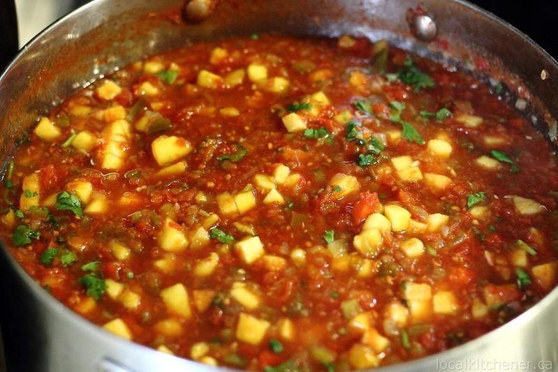 peach salsa canning