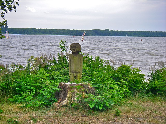 naturist statue 0000 Mueggelsee, Berlin, Germany