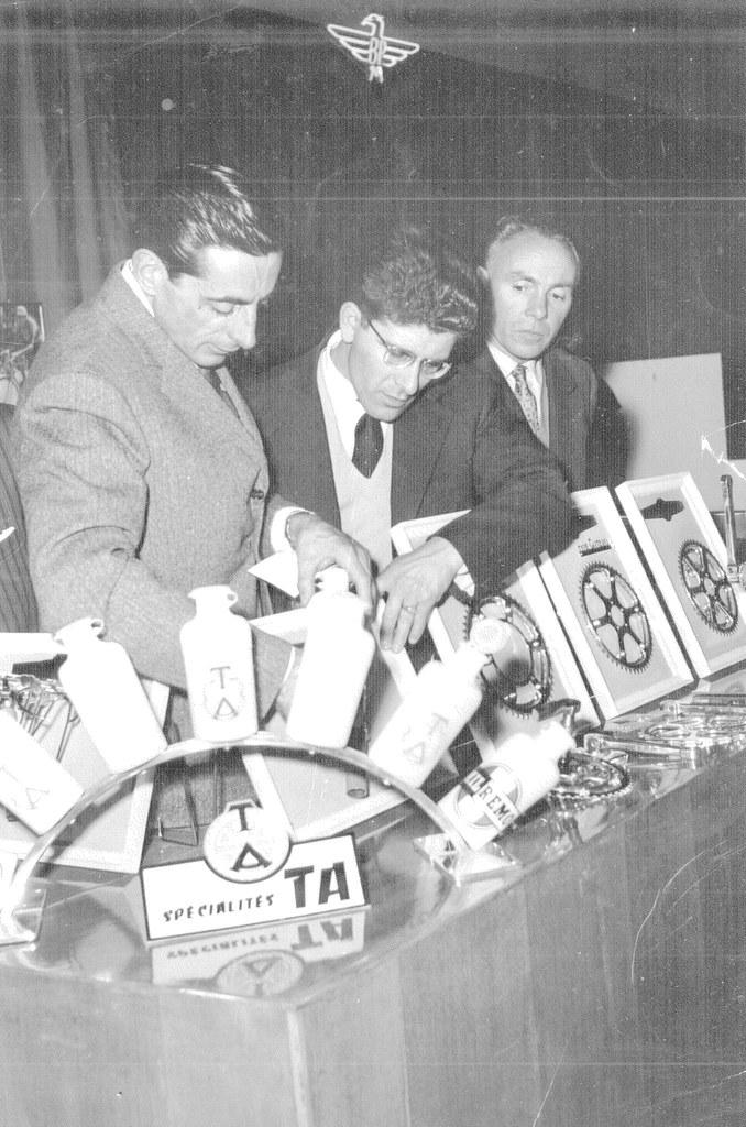 Da sx: Coppi Fausto, Lovisetto Pierino