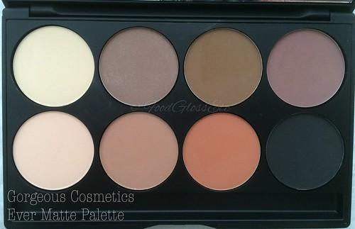 Gorgeous Cosmetics Ever Matte Palette #gcevermattepalette