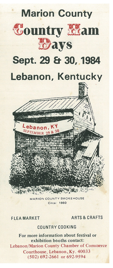Marion County Country Ham Days 1984 Brochure, Front