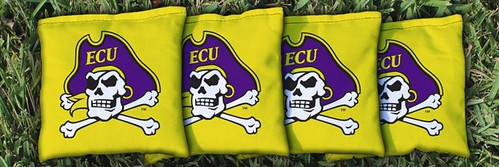 EAST CAROLINA UNIVERSITY ECU PIRATES YELLOW CORNHOLE BAGS