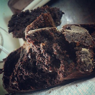Who wants a brownie? When you cook with the facebook photographer,  using proper lighting you need #nofilter -  @altonbrown Brownies, with two tweaks. #foodie #testkitchen | by ACME-Nollmeyer