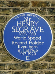 Photo of Henry Segrave blue plaque