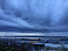 Calm Sunday #everett #sunset #everettsunsets #pnw #pnwonderland #clouds #blue #portofeverett #portgardnerbay #marina #fundaysunday #daylightsavings #extrahour