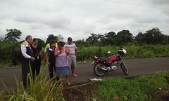 Inspección en san Andrés margen izquierdo vía a Río Grande