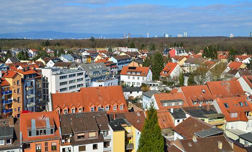 Blick gen Frankfurt