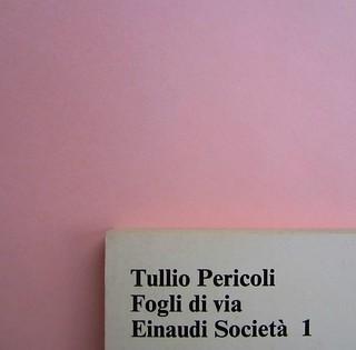 Fogli di via, di Tullio Pericoli. Einaudi 1976. Responsabilità grafica non indicata [Bruno Munari]. Quarta di copertina (part.), 2