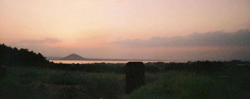 Jeju Tombstone Sunset