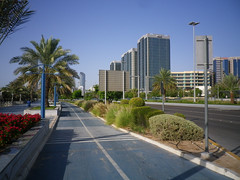 Cycle track along the Corniche, Abu Dhabi
