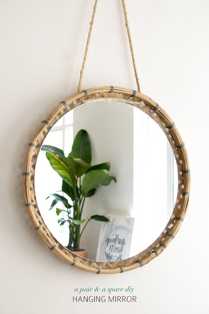 Faire un simple miroir suspendu www.apairandasparediy.com