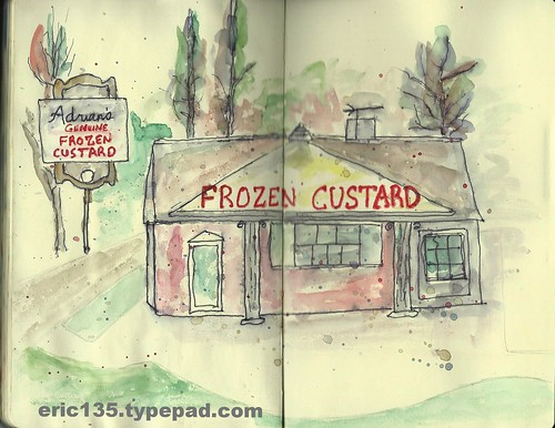 Adrian's Genuine Frozen Custard; Burlington WI USA