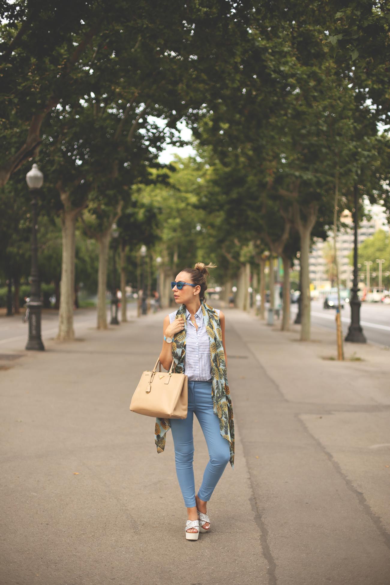 light blue, street style, fashion blogger, priscila betancort, azul claro, pantalones zara, blonde, girl, fashion, trend, blog de moda,