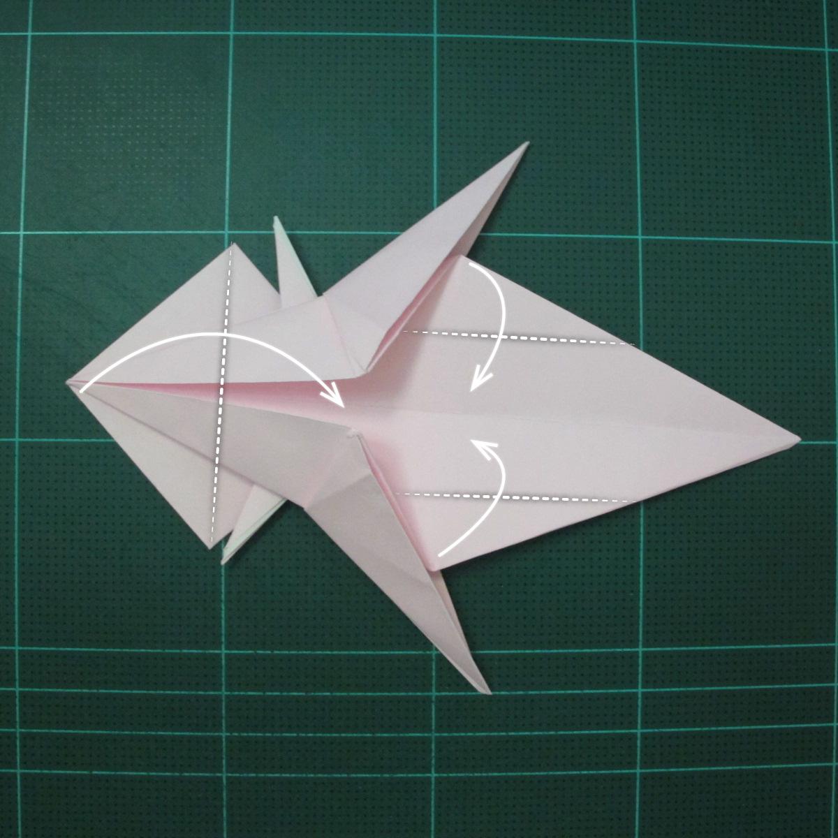 การพับกระดาษเป็นไดโนเสาร์ทีเร็กซ์ (Origami Tyrannosaurus Rex) 027