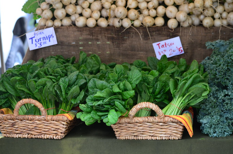 Turnips and Tatsoi