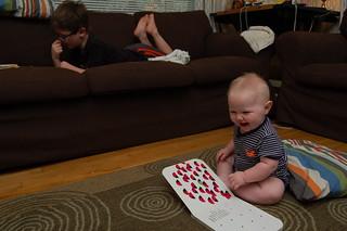 both kids reading