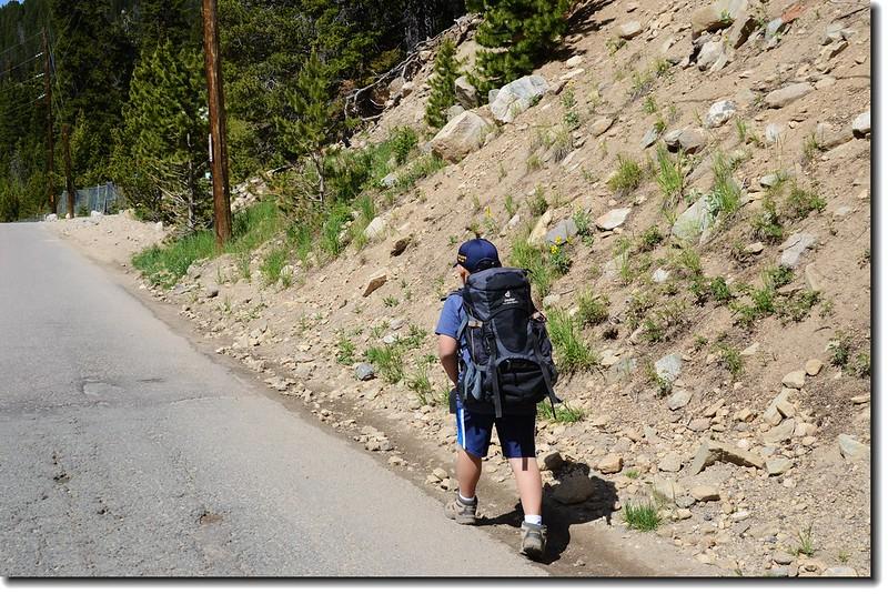 Jacob's hike to St. Mary's Lake
