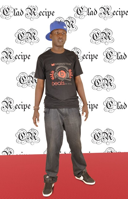Jay P on the red carpet at his Clad Recipe launch