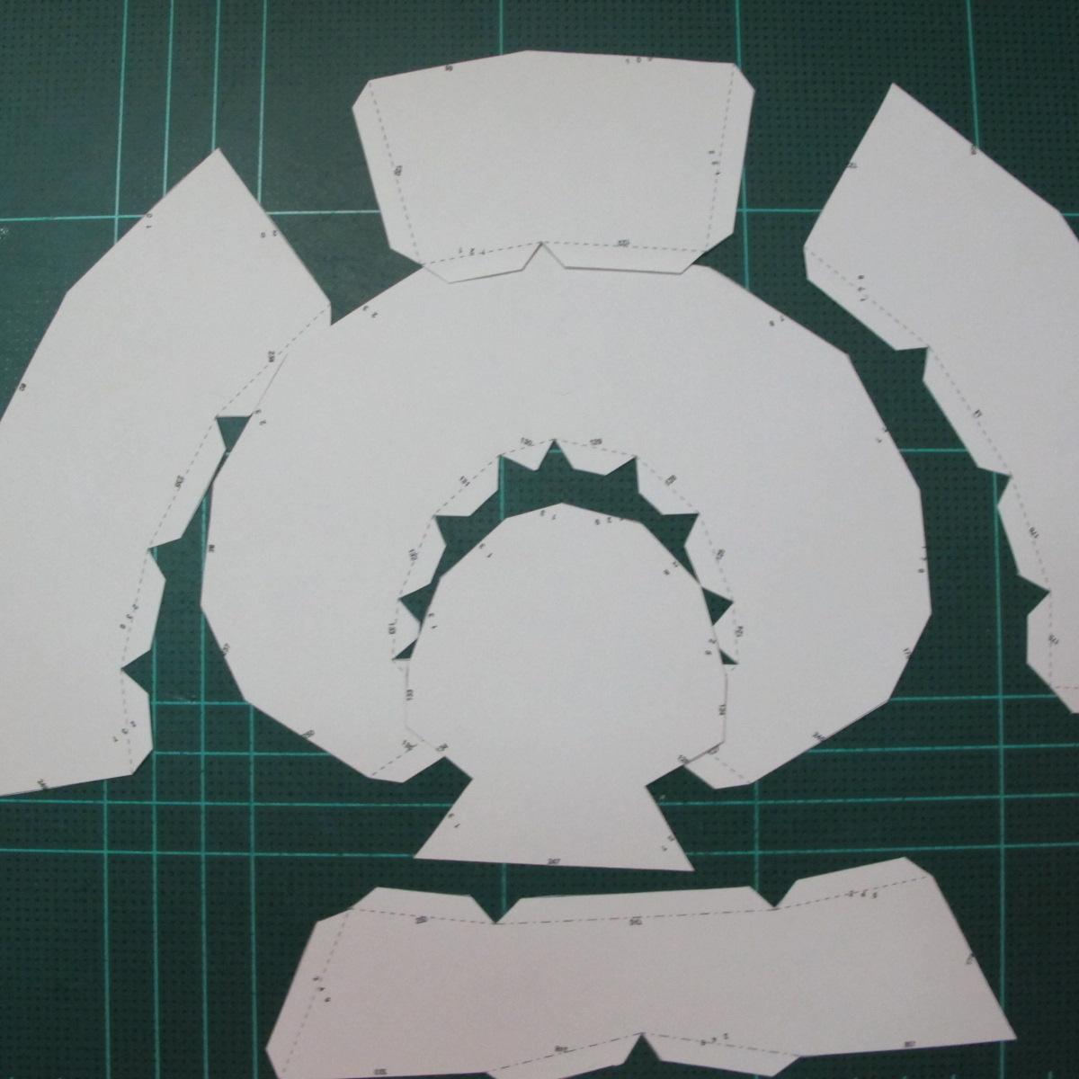 วิธีทำโมเดลกระดาษหมีรีแลกคุมะถือป้าย (Rilakkuma Papercraft Model 1) 006