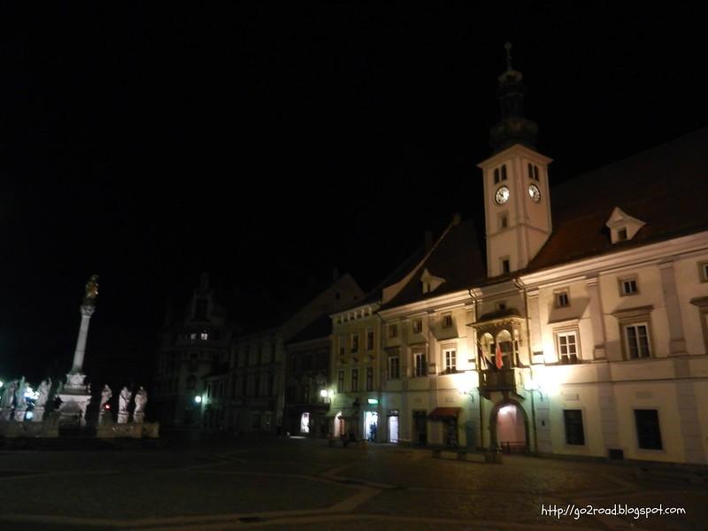 Марибор ночью