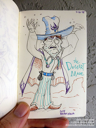 2014-07-16 #dailydrawing #RPG Desert Mage