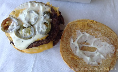 Jack in the Box Jalapeno Ranch Ultimate Cheeseburger Topless