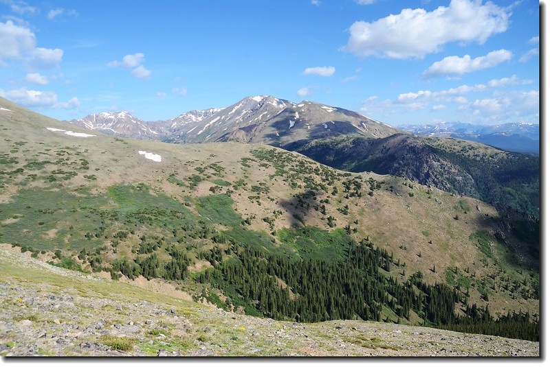 Mt. Massive from Mt. Elbert trail 2