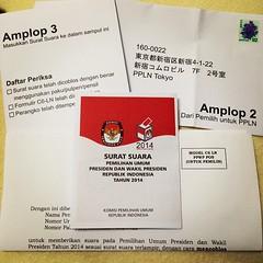 Inilah dia...  Sebuah suara.  Sebuah suara...!! #pilpres #vote #Indonesia #president #election #photooftheday #instagood