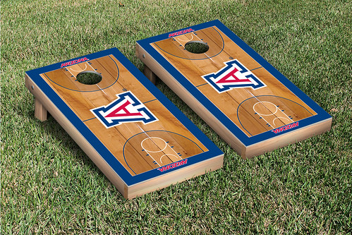 Arizona Wildcats Cornhole Game Set Basketball Court