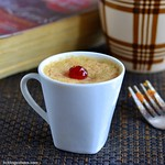 Eggless Plums Mug Cake Recipe