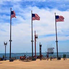 Happy #4th of #July to all of my friends south of the border!  #chicago #usa #navy #pier #flag #holidaytoday