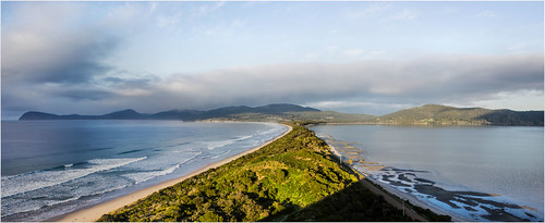 sea panorama seascape view australia scene scenary vista tasmania brunyisland theneck canoneos550d trainsintasmania stevebromley arcsoftpanorama5