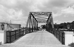 Boggy Creek Bridge, Spoetzl Brewery, Shiner, Texas 1406281205bw