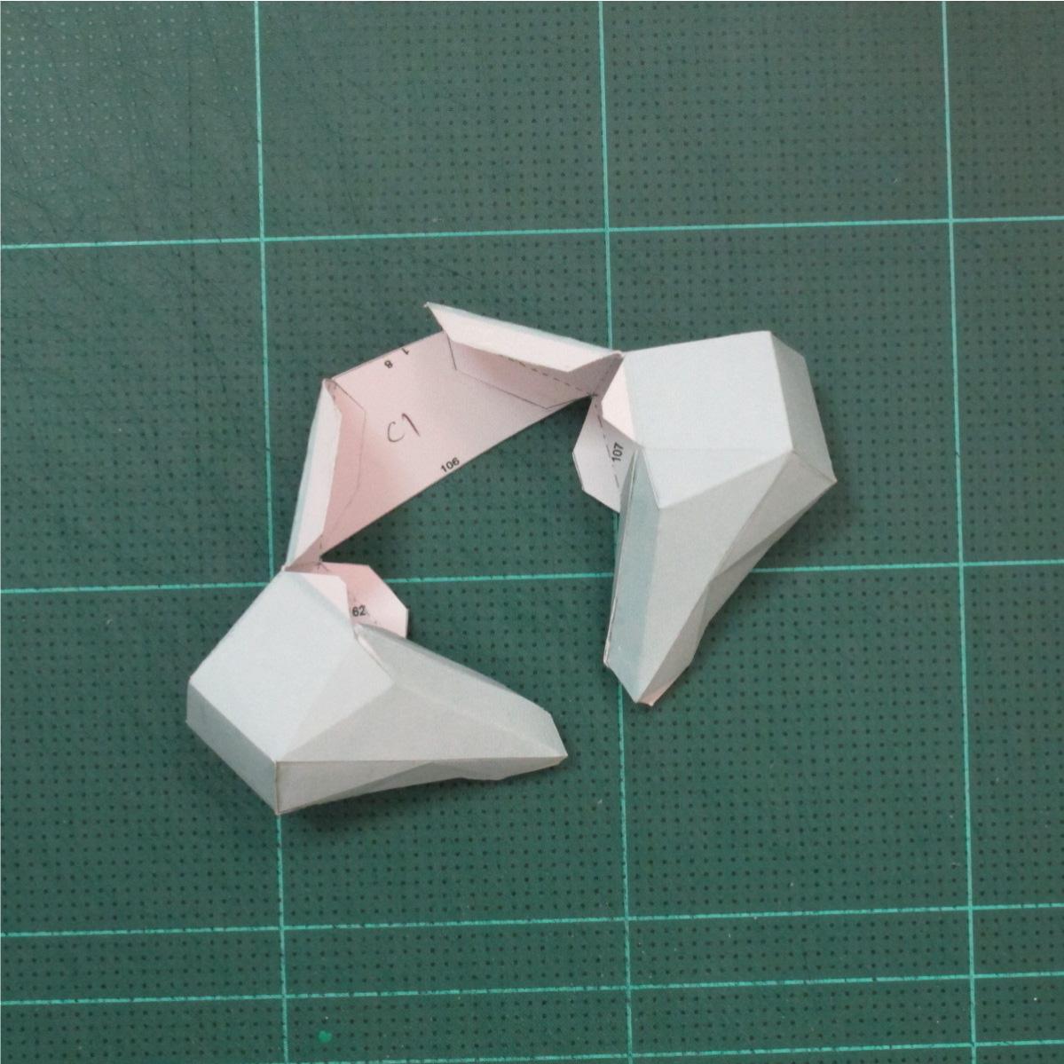 วิธีทำโมเดลกระดาษคุกกี้รันจิ้งจอกเก้าหางในร่างหมาจิ้งจอก (Cookie Run Ninetails Fox Form Papercraft Model) 015