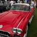 Corvette ... Red with white stripes
