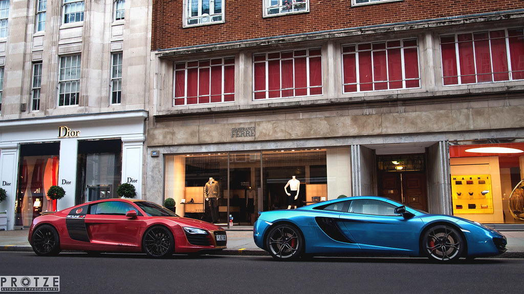 the red audi r8 or the blue mclaren mp4-12c? | also follow m… | flickr