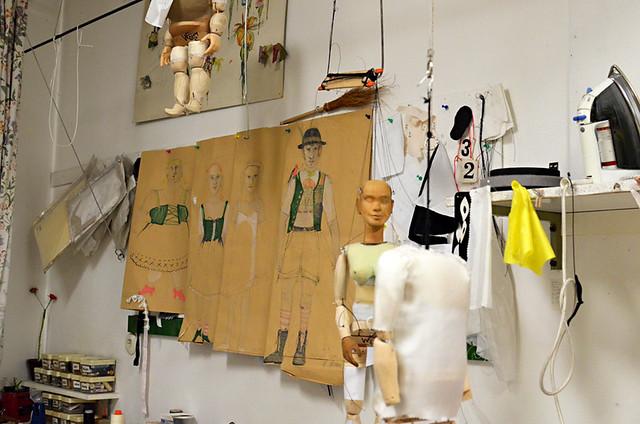 Puppet workshop, Marionette Theatre, Salzburg, Austria