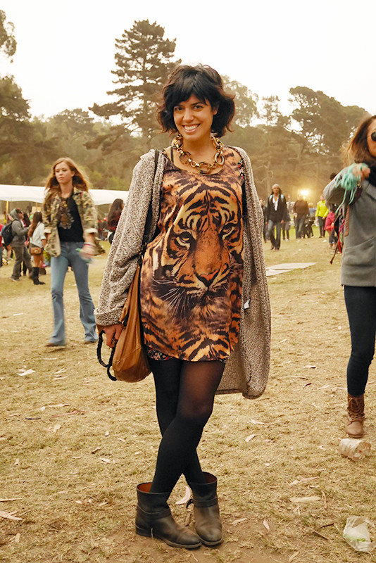 leopard print street style, street fashion, outside lands, Quick Shots, women, Golden Gate Park